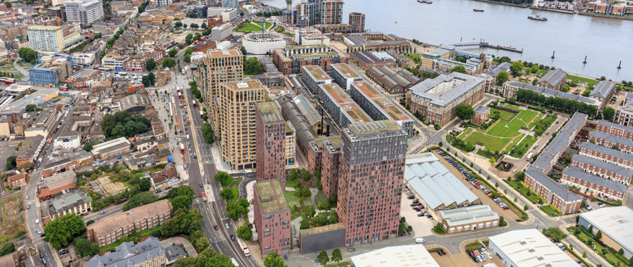 Woolwich Crossrail Over-site development aerial